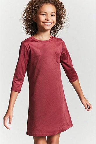 Girls Faux Suede T-shirt Dress (kids)