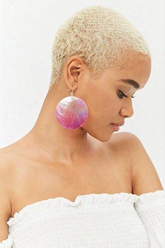 Ombre Disc Drop Earrings
