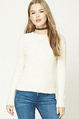 Open-elbow Fisherman Sweater