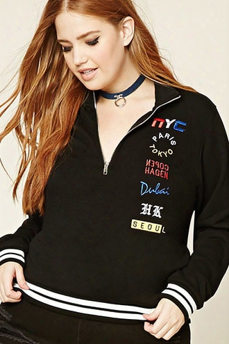 Plus Size City Graphic Pullover