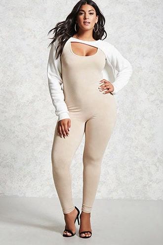 Plus Size Scoop Neck Jumpsuit
