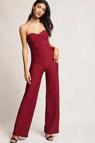 Ribbed Sweetheart Jumpsuit