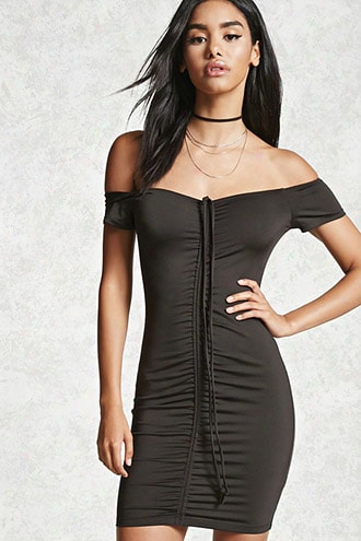 Ruched Halter Dress