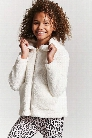 Girls Faux Shearling Zip-Up Hoodie (Kids)