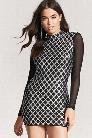 Sequin Mock Neck Dress