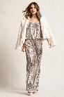 Striped Sequin Cami Jumpsuit