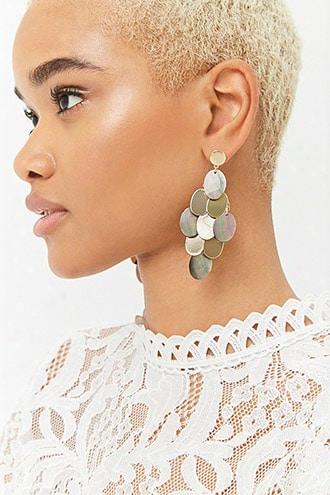 Tiered Faux Shell Drop Earrings