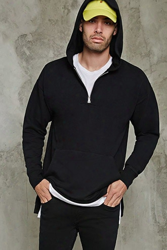 Zippered Pullover Hoodie