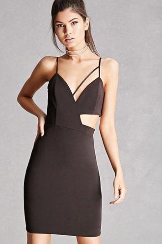 Cutout Bodycon Cami Dress