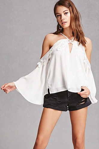 Halter Open-shoulder Top