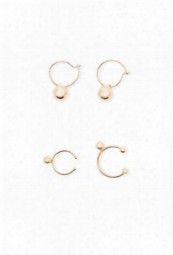 Hoop & Cuff Earring Set