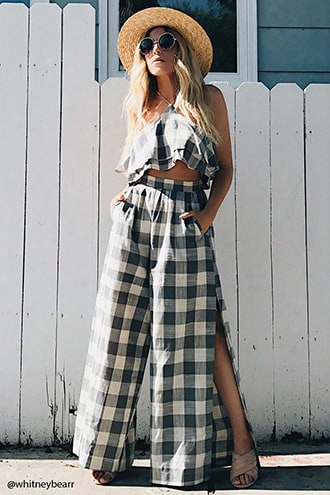 Nightwalker Plaid Halter Top