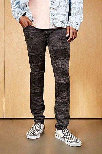 Project X Paris Moto Patch Jeans