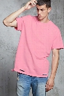 Cotton-Blend Distressed Tee