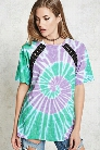 Lace-Up Tie-Dye Tee