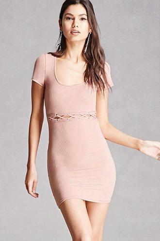 Waist-slit Bodycon Dress