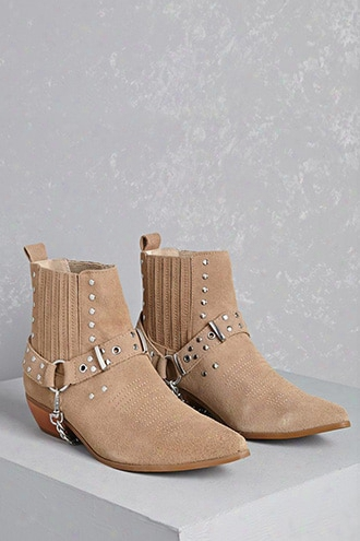 Y.r.u. Studded Suede Booties