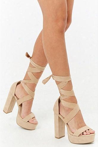 Ankle-wrap Platform Sandals