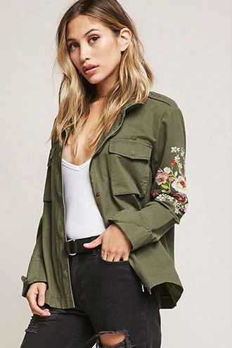 Aryn K Embroidered Utility Jacket