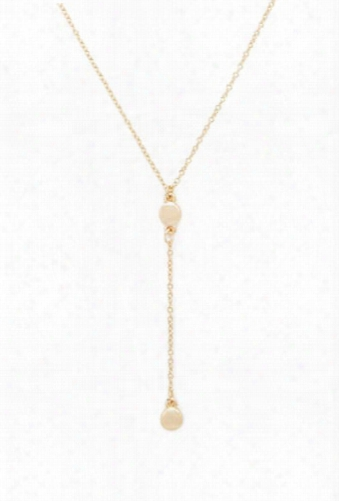 Circle Drop Chain Necklace