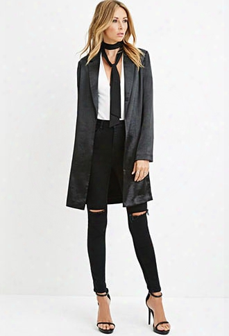 Contemporary Longline Metallic Blazer