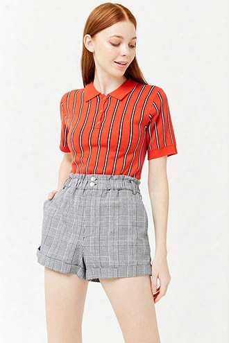Cuffed Plaid Shorts