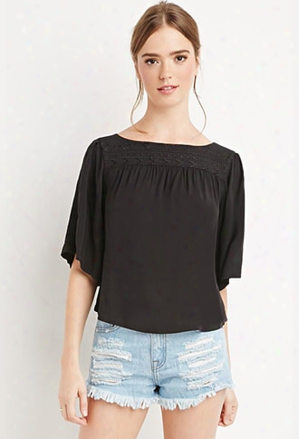Dolman-sleeved Peasant Top