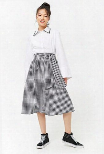 Gingham Tie-waist Skirt