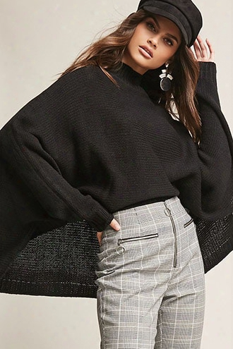 High-low Sweater-knit Top