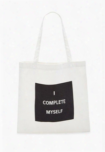 I Complete Myself Graphic Tote