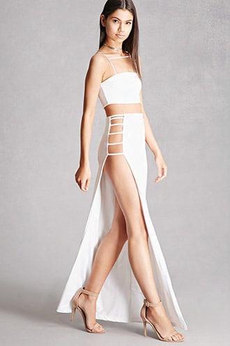 Kikiriki Crop Top And Skirt Set