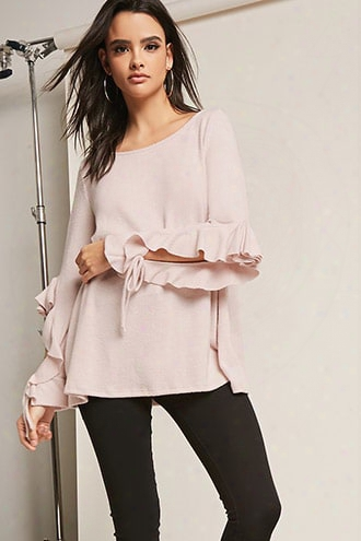 Knit Ruffle-trim Top
