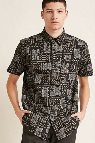 Montage Chain Print Shirt