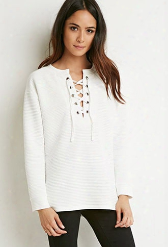 Quilted Lace-up Ttop