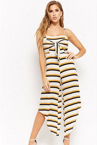 Ribbed Striped Jumpsuit