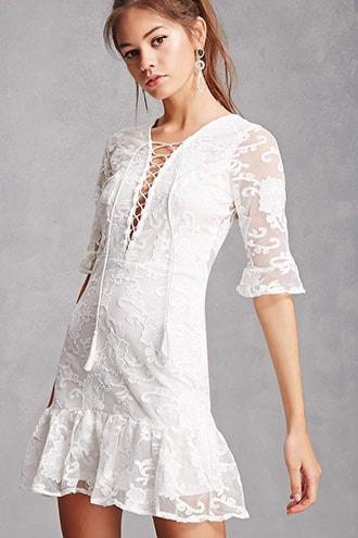 Soieblu Sheer Mesh Mini Dress