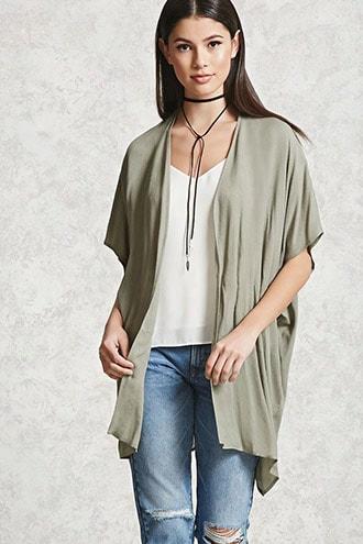 Textured Open-front Kimono