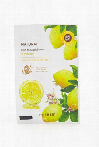 The Saem Natural Lemon Skin-fit Mask Sheet