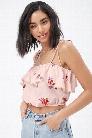 Floral Flounce Cami Top