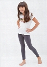 Girls Heathered Knit Leggings (Kids)