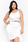 Plus Size Cascade Ruffle Mini Skirt