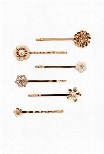 Assorted Floral Bobby Pin Set