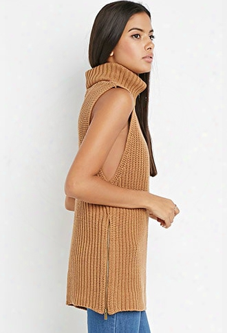 Contemporary Zippered Turtleneck Tunic