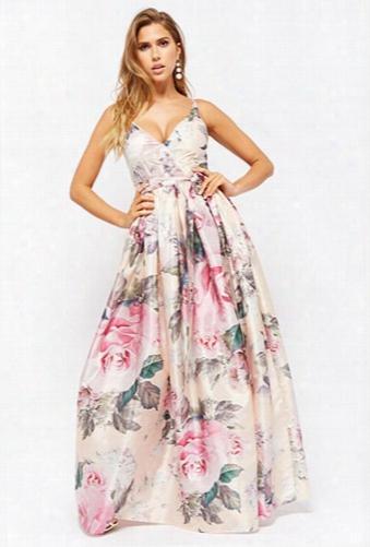 Floral Surplice Gown