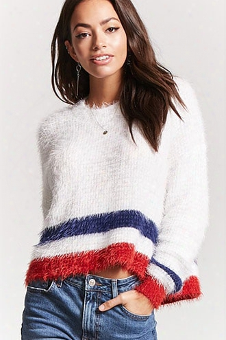 Fuzzy Knit High-low Sweater