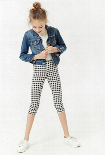 Girls Gingham Capri Leggings (kids)