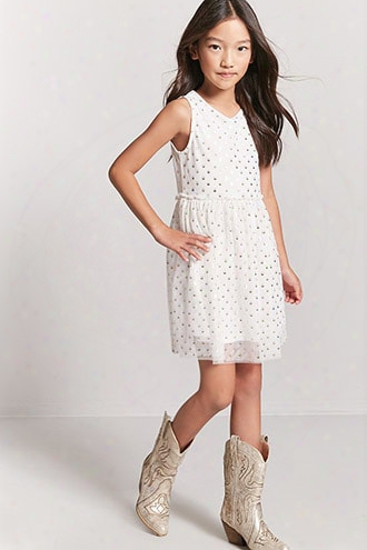 Girls Metallic Polka Dot Dress (kids)