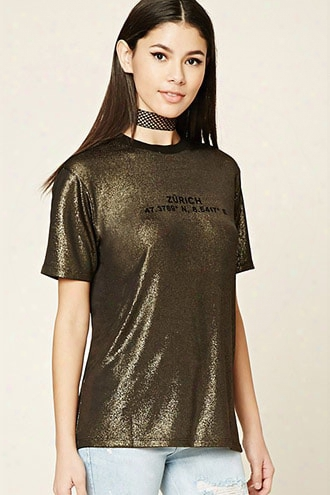 Glitter Knit Zurich Graphic Tee