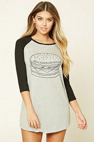 Hamburger Raglan Nightdress