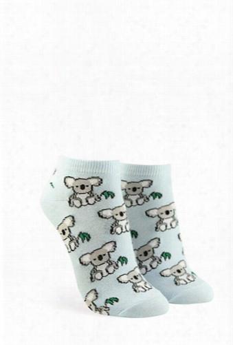 Koala Graphic Ankle Socks